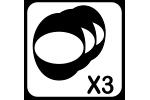 3 tamaños de carcasa